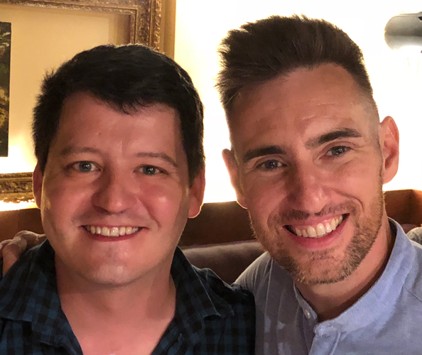 Nathan Martin and Mark Dugdale on 6 July 2018