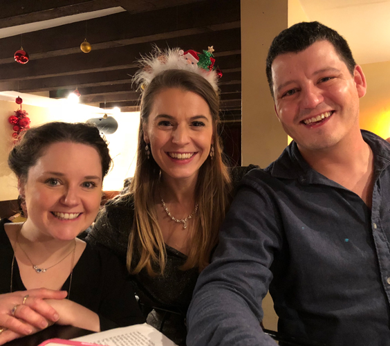 Sarah Lark, Tasha Sheridan and Nathan Martin on 7 December 2018