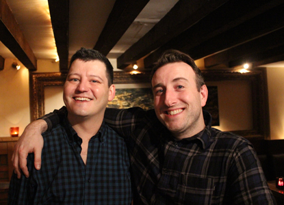 Nathan Martin and Gus Gowland on 19 January 2018