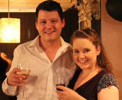 Nathan and Sarah on 30 September 2016